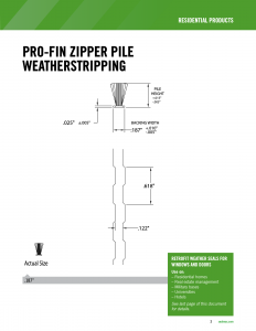 PRO-FIN ZIPPER PILE WEATHERSTRIPPING